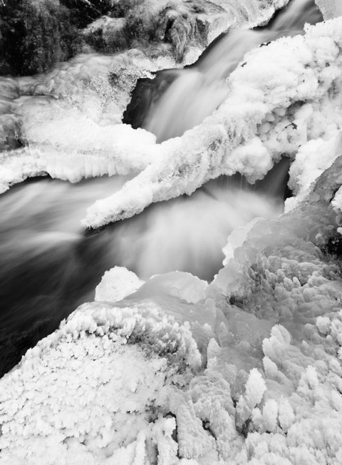 Lusk Falls in winter in Gatineau Park