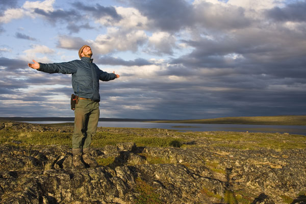 Self portrait of Tim Irvin in Nunavut