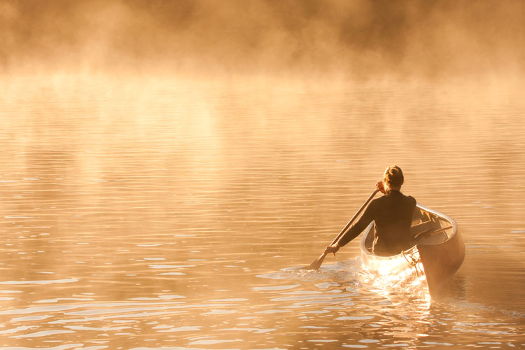 Wilderness canoeing in Quebec