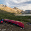 Canoe by Duo Lakes, Yukon