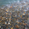 clear water flowing over colourful river stones, snake river, Yukon
