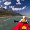 Canoeing the turquoise Snake River, yukon