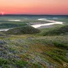 Sunset over the Baillie River, Thelon Wildlife Sanctuary, Nunavut